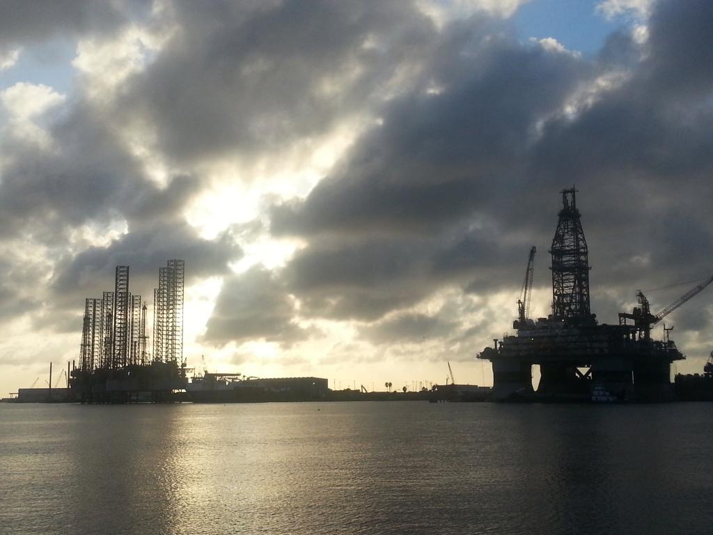 GALVESTON, TEXAS, OIL RIG