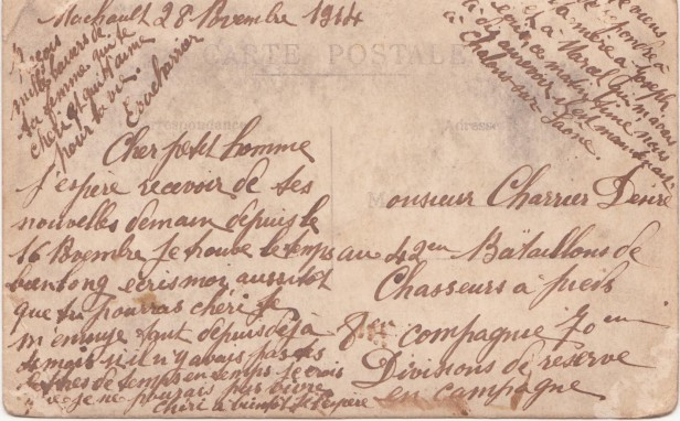 Grande Guerre Correspondance Désiré Charrier